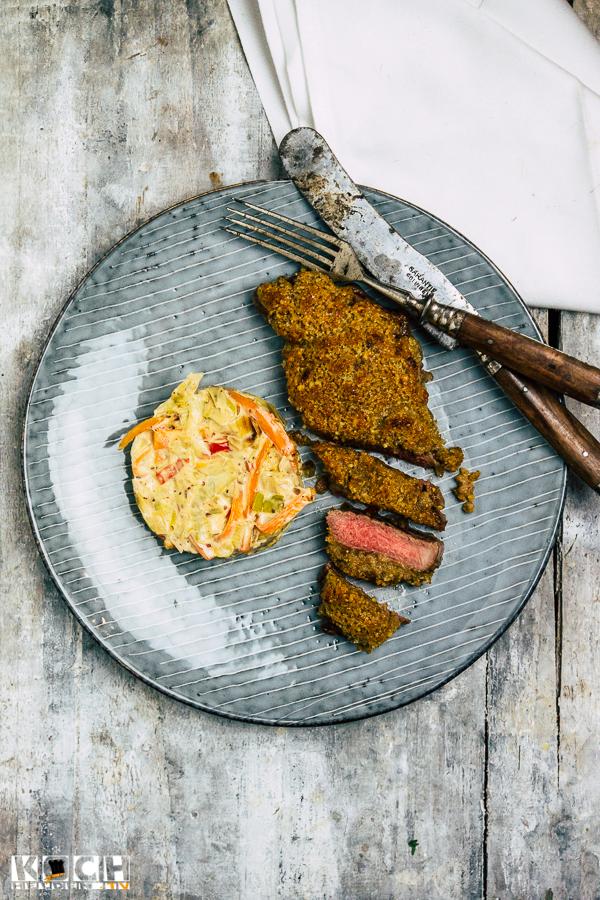 Rumpsteak mit Karotten-Lauch-Gemüse - www.kochhelden,tv