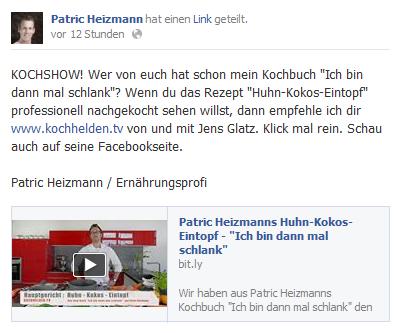 Patrick pusht uns ab und an auf seiner Facebookseite