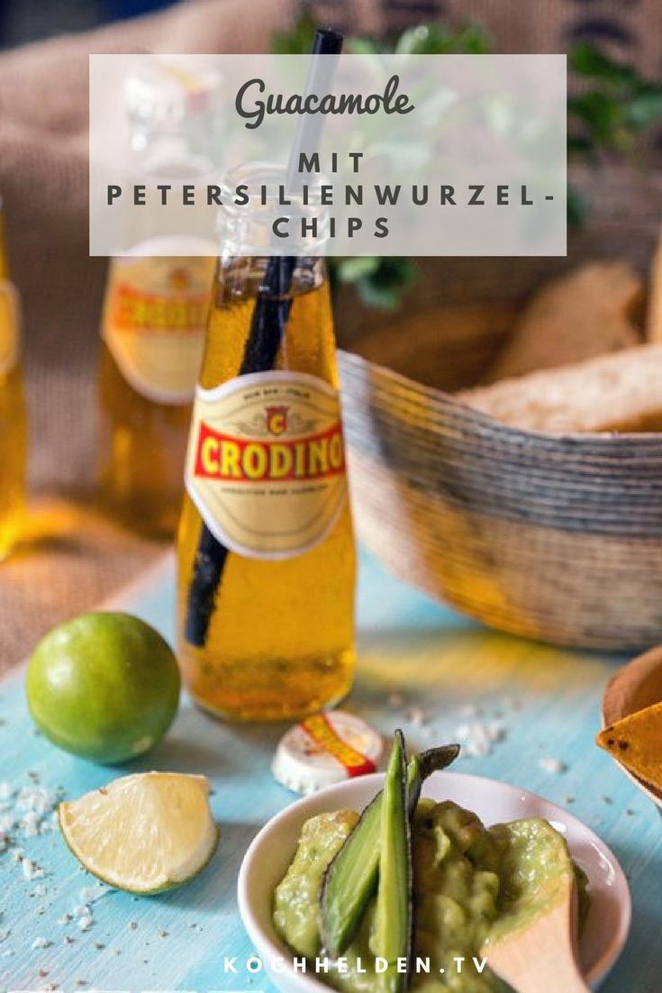 Guacamole mit Petersilienwurzelchips - www.kochhelden.tv
