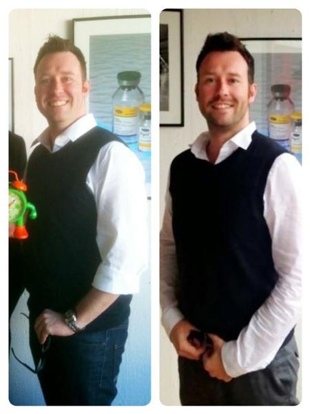 Zwischen den beiden Bildern liegen nur 6 Monate aber über 25 kg