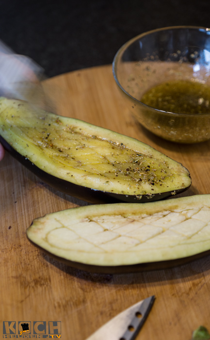 aubergine einölen -www.kochhelden.tv