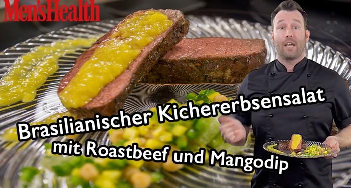 Kichererbsensalat mit Roastbeef- www.kochhelden.tv