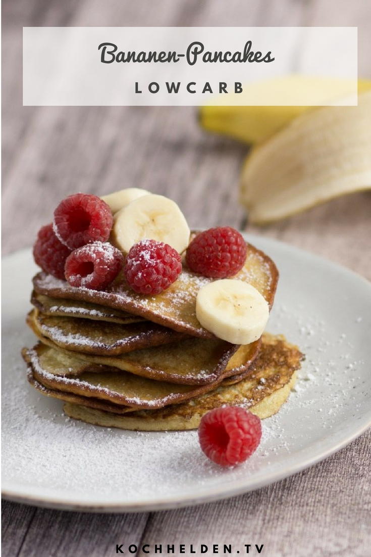 Bananen-Pancakes LowCarb - www.kochhelden.tv