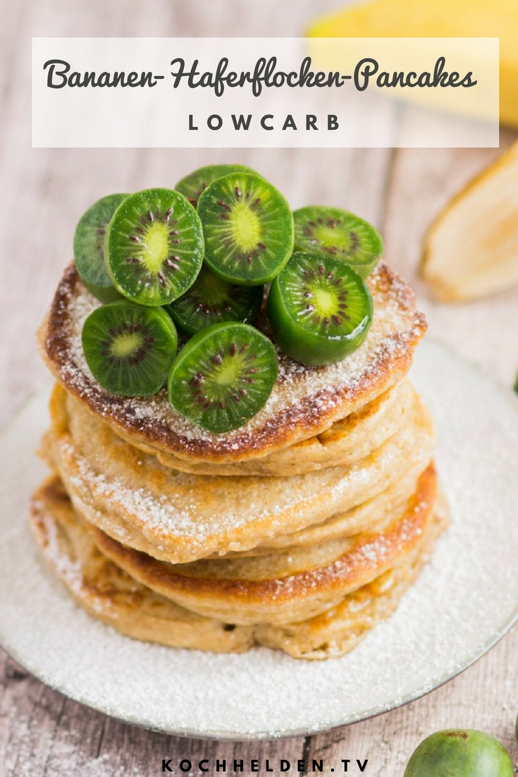 Bananen-Haferflocken-Pancakes - www.kochhelden.tv
