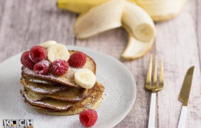 Lowcarb-Bananen-Pancakes - www.kochhelden.tv