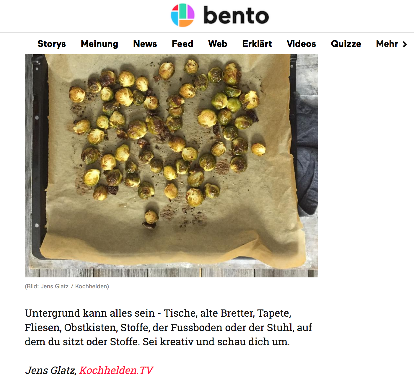 Foodblogger BENTO - www.kochhelden.tv