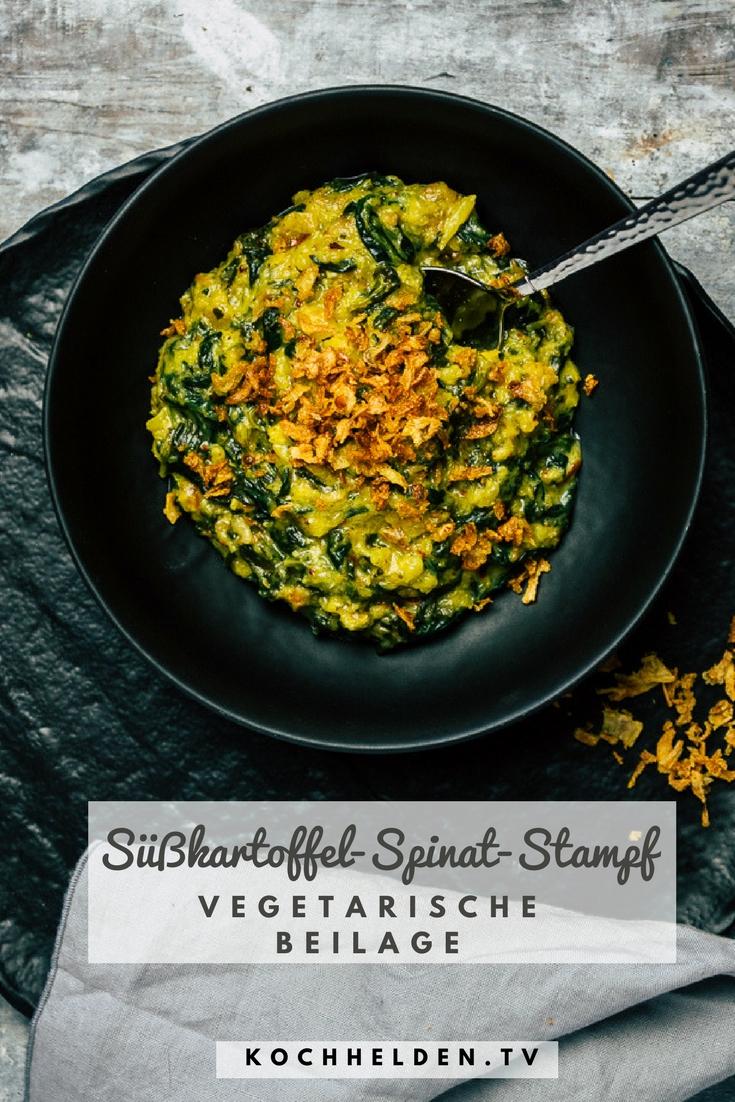 Süßkartoffel-Spinat-Stampf -www.kochhelden.tv