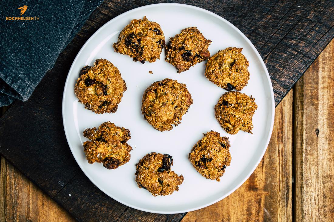 Müsli-Cookies mit Cranberries - www.kochhelden.tv