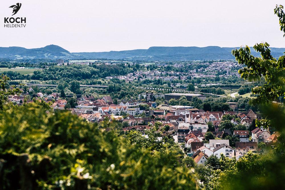 Blick über Plochingen - www.kochhelden.tv