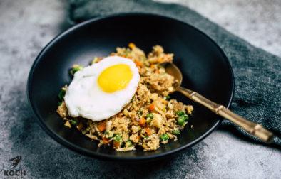 Blumenkohl Fried Rice lowcarb - www.kochhelden.tv