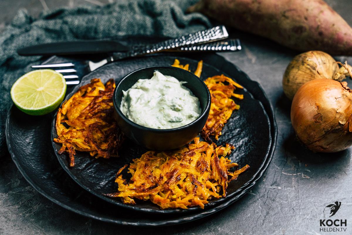 Süßkartoffelroesti_Süßkartoffelpuffer - www.kochhelden.tv
