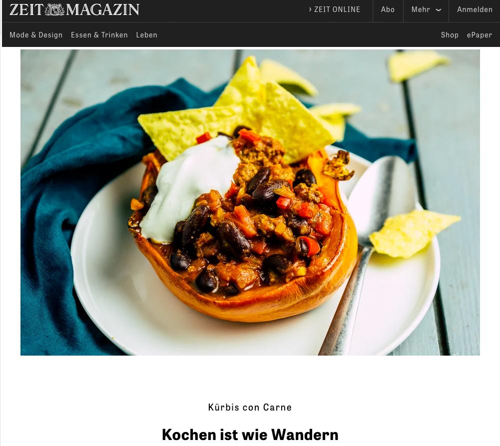 Kochhelden in ZEIT online - www.kochhelden.tv